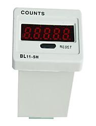 5 dígitos contador marcador digital de ac dc 38,5 × 27 milímetros com reset de fábrica para jdm11-5h