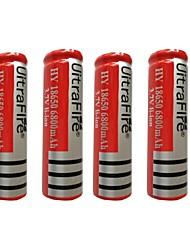 4pcs bateria de iões de lítio 6800mAh 18650 3.7V