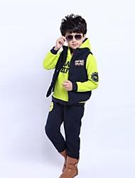 Boy's Fashion Leisure Thickening Warm Three Piece Clothing Set