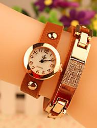 xintianshi Frauen Bohrer mit einer Zwinge Streifen Uhr
