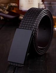 nueva venta caliente de cuero genuino cinturón bukle suave de los hombres
