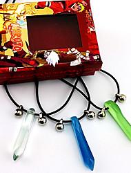 Joyas Inspirado por Naruto Naruto Uzumaki Animé Accesorios de Cosplay Collares Azul / Verde Hombre