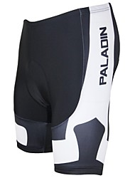 PaladinSport Men's The Black stripes Spring and Summer Style Lycra and Polyester White Cycling Shorts