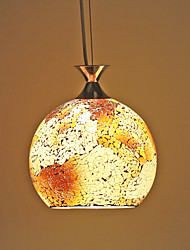 Amber Mosaic Glass Pendant
