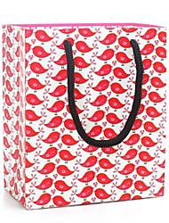 pássaro vermelho sacos padrão de presente