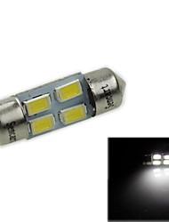 31 milímetros (sv8.5-8) 2w 4x5730smd120-1600lm 6000-6500k luz branca levou lâmpada para lâmpada de leitura de carro (ac12-16v)