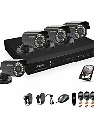 ZOSI® 700TVL 960H D1 HDMI 1TB HDD 4CH H.264 DVR Kits 4x Outdoor Day Night IR CCTV Camera Security System