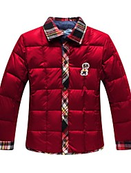 Boy's Polyester Down & Cotton Padded,Winter Check