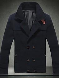 Men's Pure Color Cloth Coat