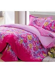 Set of 4 Floral Rainbow l Bamboo Fiber  Duvet Covers