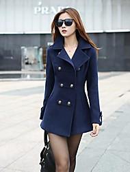de espesor delgado hebilla largo abrigo de las mujeres (más colores)