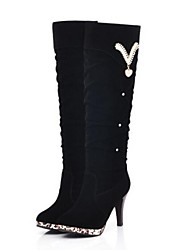 Women's Shoes Fashion Boots Round Toe Stiletto Heel Knee High Boots More colors available