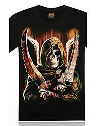 Informeel MEN - T-shirts ( Katoen )met Korte Mouw