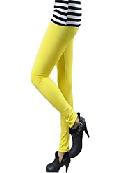 Women Solid Color Legging,Polyester Thick