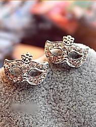 Frauen Bohemian Maske Diamant Ohrringe Blume