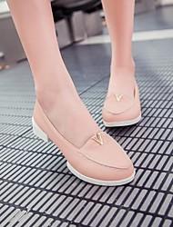 sapatos femininos dedo do pé redondo mocassins de salto baixo sapatos mais cores disponíveis