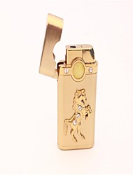 Golden stereo mustang set auger metal butane lighter