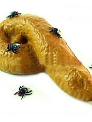 Halloween jouets délicate les mouches de 3 pièces poisson d'avril un grand réalisme (couleur aléatoire)