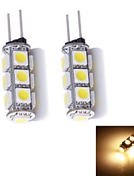 2W G4 LED à Double Broches 13 SMD 5050 130~150 lm Blanc Chaud DC 12 V