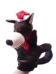 Natal do lobo de grande porte fantoches brinquedos