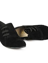 calcanhares das mulheres modernas baixo de camurça calcanhar com sapatos lace-ups de dança (mais cores)