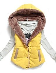 Women's Fashion Velvet Hooded Vest