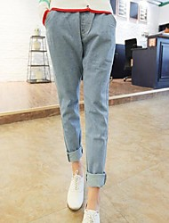 Women's Blue Denim Pant , Casual/Work