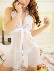 gonna bianca delle donne con le spalla-cinghie abito perizoma lingerie