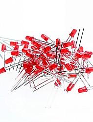 красный свет 3мм привело светоизлучающие диоды для теста Arduino (50 шт)