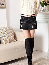 Women's Polyester Skirt , Casual
