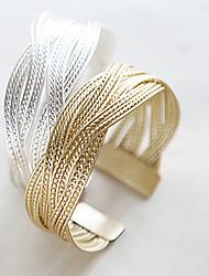 Bracelet Chaînes & Bracelets Alliage Mariage / Soirée / Quotidien / Décontracté Bijoux Cadeau Doré / Argent,1pc