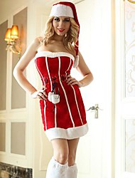 Waist Dress Red and White Adult Christmas Woman's Costume