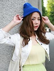Frauen modisch und Joker fluoreszierende Farbe Strickwolle Hut