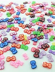 300pcs gemischten Stil Fimo Scheibe bowknot Reihe Nagelkunstdekoration