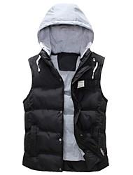 Men's Regular Parka Coat Pure Sleeveless