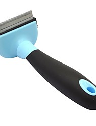 Dele Metal Blade Short Tiny Hair Shedding Grooming Comb Brush Fur Rake for Pet Dog Cats -(50mm)