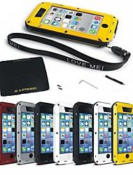 Назначение iPhone 8 iPhone 8 Plus Чехлы панели Вода / Грязь / Надежная защита от повреждений Чехол Кейс для Сплошной цвет Твердый Металл
