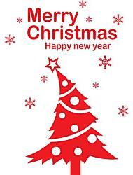 jiubai® Natale muro albero decalcomania della parete adesivo