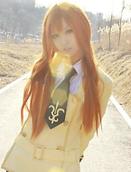 Cosplay Wigs Code Gease Cosplay Orange Long Anime Cosplay Wigs 80 CM Heat Resistant Fiber Female