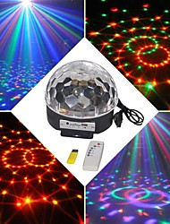 18W RGB LED mp3 színpadon dj disco club pub party crystal magic ball fény eu (ac100-240v)