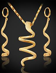 longa queda brincos pingente pendurados novas das mulheres de ouro 18k colar banhado robusto