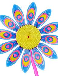 10PCS Fashion Sunflower Colorful Windmill Children Toys(Random Color)