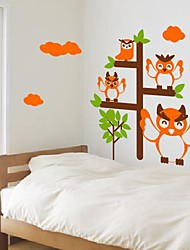Wall Stickers Wall Decals,  Modern Cartoon tree and owl PVC Wall Stickers