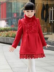 automne hiver des manteaux de laine de princesse de collier de stand de momlook ™ fille