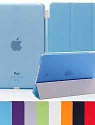 natusun ™ couro pu macio inteligente magro cobrir reservatório de plástico rígido translúcido para ipad 3 (cores sortidas)
