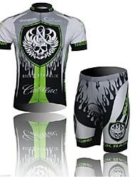 cráneo biking® oeste de manga corta traje de ropa de bicicleta de montaña mtb bicicleta conjunto pantalones cortos de ciclo de jersey para hombres