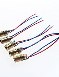 rouge module de diode laser à points - 5v (5pcs)