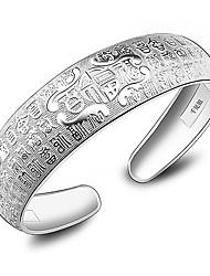 élégant bracelet en argent à motif chance de WEIMEI femmes