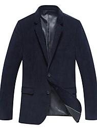 Men's Long Sleeve Regular Blazer , Cotton/Cotton Blend/Tweed Pure