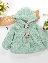 dulces de la manera de la muchacha de flores de imitación de piel con ropa de abrigo con capucha